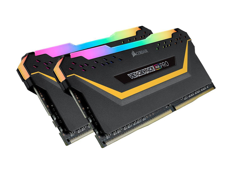 CORSAIR Vengeance RGB Pro 16GB (2 x 8GB) 288-Pin DDR4 SDRAM DDR4 3000 (PC4 24000) Desktop Memory - TUF Gaming Edition Model CMW16GX4M2C3000C15-TUF