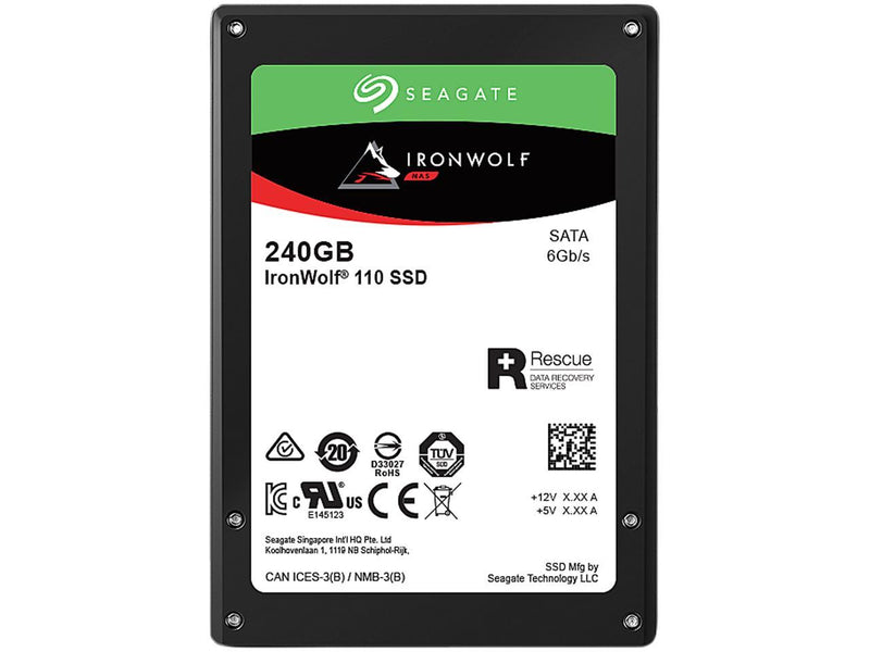 "Seagate IronWolf 110 2.5"" 240GB SATA III 3D TLC Internal Solid State Drive (SSD) ZA240NM10011"