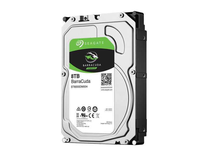"Seagate BarraCuda ST8000DM004 8TB 5400 RPM 256MB Cache SATA 6.0Gb/s 3.5"" Internal Hard Drive Bare Drive"