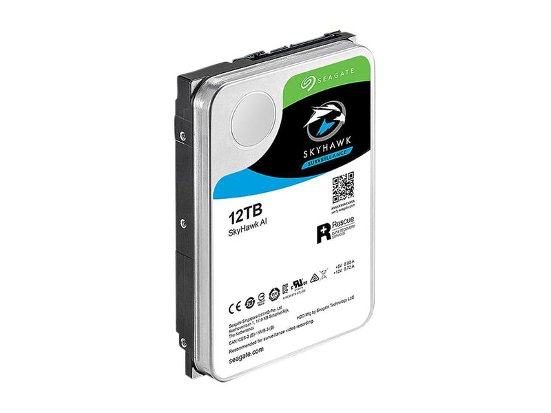 "Seagate SkyHawk AI ST12000VE0008 12TB 7200 RPM 256MB Cache SATA 6.0Gb/s 3.5"" Internal Hard Drive"