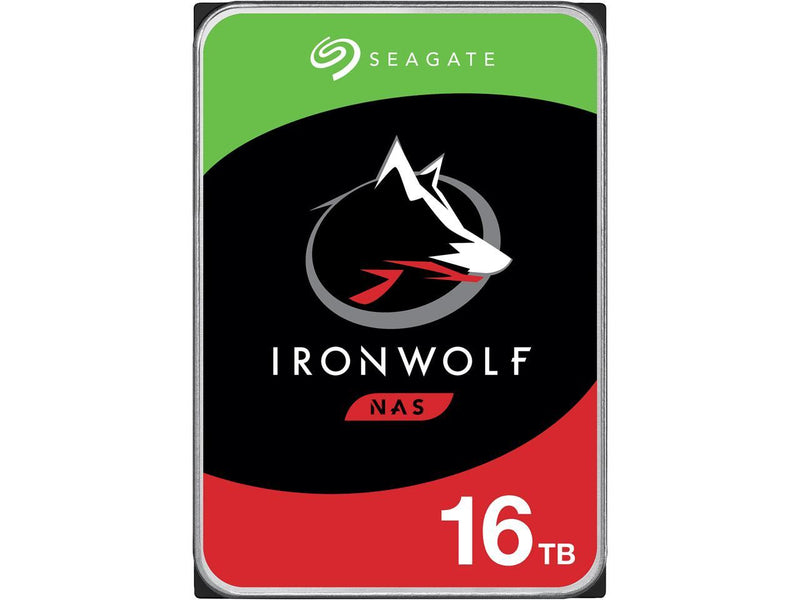 "Seagate IronWolf 16TB NAS Hard Drive 7200 RPM 256MB Cache SATA 6.0Gb/s CMR 3.5"" Internal HDD for RAID Network Attached Storage ST16000VN001"