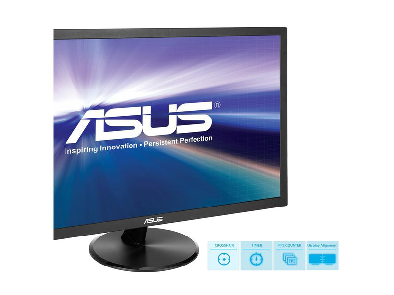 "ASUS VP247QG 24"" (Actual size 23.6"") Full HD 1920 x 1080 1ms DP HDMI VGA Adaptive Sync/FreeSync Eye Care Monitor"