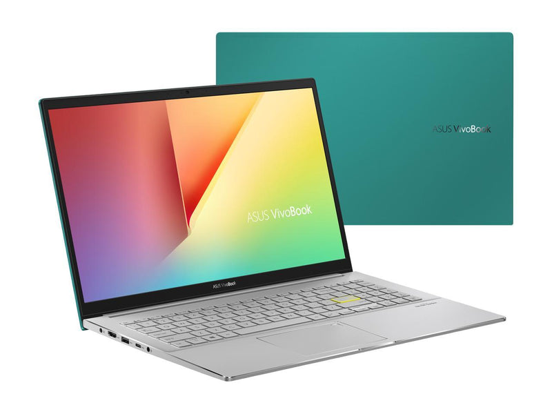 "ASUS VivoBook S15 S533 Thin and Light Laptop, 15.6"" FHD, Intel Core i5-10210U CPU, 8 GB DDR4 RAM, 512 GB PCIe SSD, Windows 10 Home, S533FA-DS51-GN, Gaia Green"