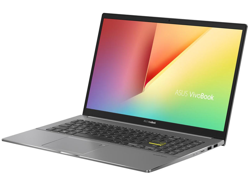 "ASUS VivoBook S15 S533 Thin and Light Laptop, 15.6"" FHD Display, Intel Core i7-10510U CPU, 16 GB DDR4 RAM, 512 GB PCIe SSD, Fingerprint Reader, Windows 10 Home, Indie Black, S533FA-DS74"