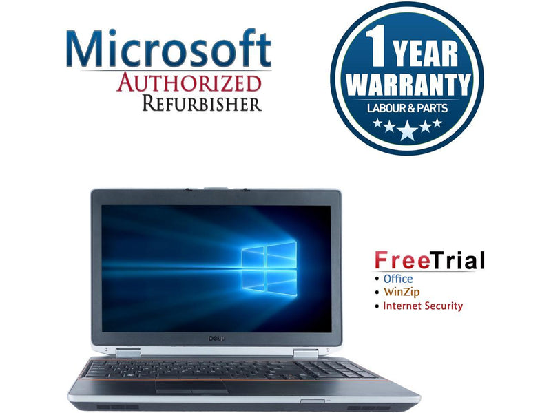"Refurbished Dell Latitude E6520 15.6"" Intel Core i5-2520M 2.5GHz 4GB DDR3 1TB DVD Windows 10 Professional 64 Bits 1 Year Warranty"