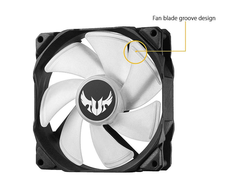 ASUS TUF Gaming LC 120 RGB All-in-one liquid CPU Cooler, Aura Sync, TUF 120mm RGB Radiator Fans with Fan Blade Groove Design