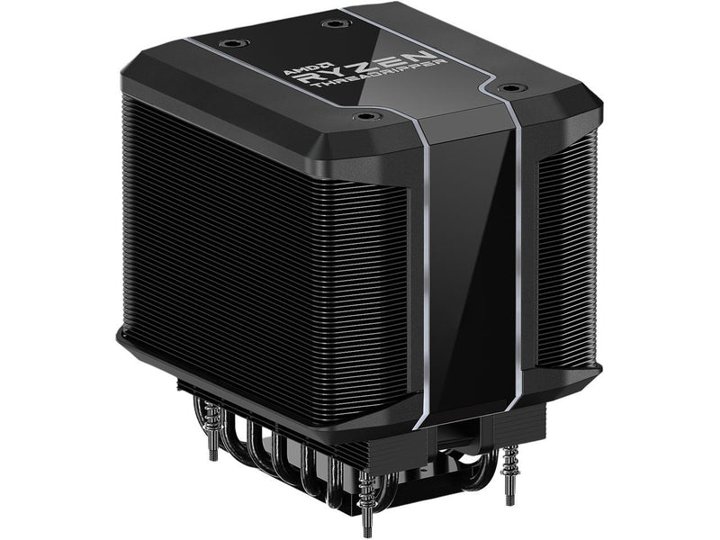 Cooler Master AMD Wraith Ripper ThreadRipper TR4 High Performance CPU Air Cooler, Addressable RGB Threadripper logo's display, 7 Heat Pipes, Dual Tower Heatsink, Wraith Armor Air-Guide
