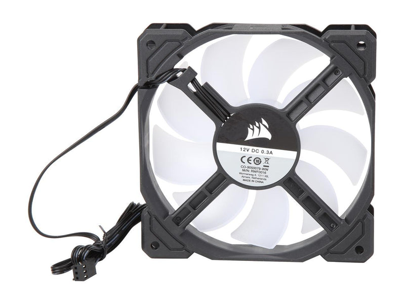 Corsair AF Series AF120 LED (2018) CO-9050079-WW 120mm White LED Case Fan, Single Pack.