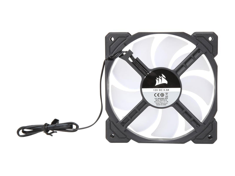 Corsair AF Series AF120 LED (2018) CO-9050080-WW 120mm Red LED Case Fan, Single Pack.