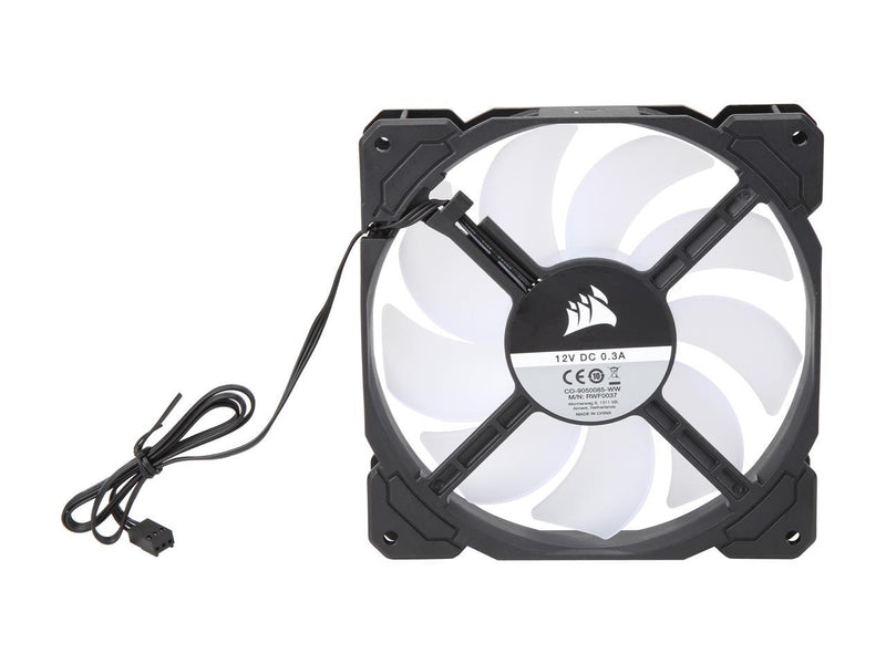 Corsair AF Series AF140 LED (2018) CO-9050085-WW 140mm White LED Case Fan, Single Pack
