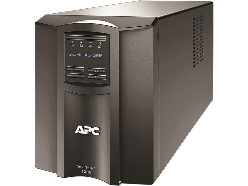 APC SMT1000C 1000 VA 700 Watts 120V 8 Outlets Pure Sinewave Smart-UPS with SmartConnect (Replaces SMT1000)