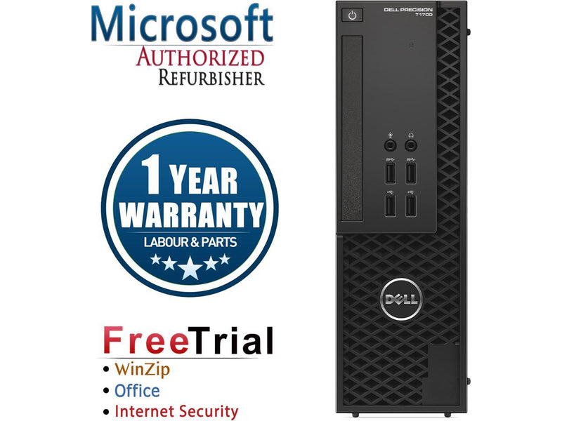 Refurbished DELL Precision T1700 SFF Intel Xeon E3-1245V3 3.4G / 8G DDR3 / 1TB / DVD / Windows 7 Professional 64 Bit / 1 Year Warranty