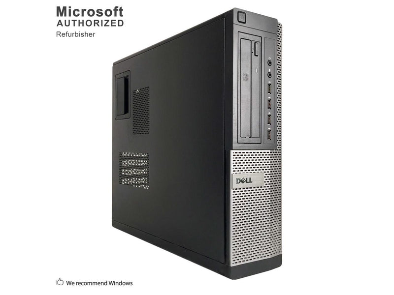 Refurbished Dell Grade A OptiPlex 990 Desktop Computer, Intel Core I5-2500 (3.3 GHz), 4G DDR3, 1T HDD, DVD, Windows 10 Pro 64-bit (English/Spanish), 1 Year Warranty