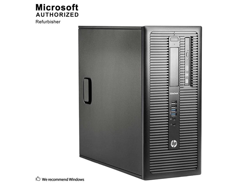 HP ProDesk 800 G1 Tower Intel Core i5 4590 3.30 GHz, 8 GB DDR3, 3 TB HDD, DVD, WiFi, BT 4.0, Windows 10 Pro 64-Bit, 1 Year Warranty