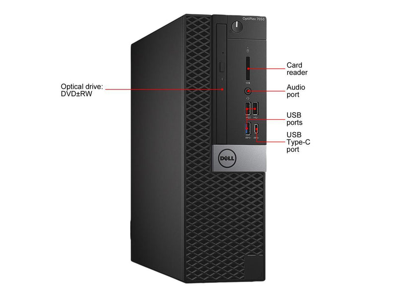 Dell Grade A OptiPlex 7050 SFF Intel Core i5 7500 (3.40 GHz) 16 GB RAM 3 TB HDD DVDRW WIFI BT Windows 10 Pro (Multi-language)