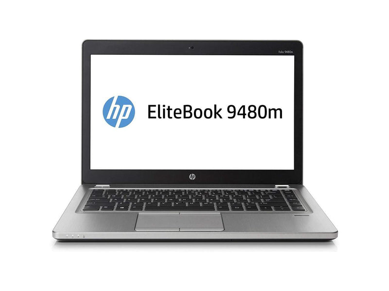 HP Elitebook Folio 9480M 14.0 in Laptop - Intel Core i7 4600U 4th Gen 2.1 GHz 8GB 180GB SSD Windows 10 Pro 64-Bit - Webcam