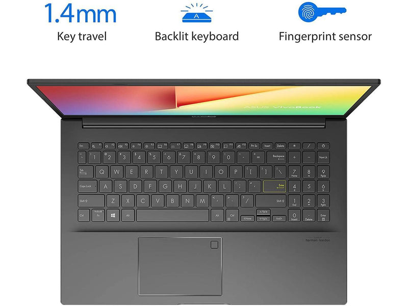 "2020 Asus VivoBook 15 S513 15.6"" FHD Premium Thin & Light Laptop, AMD 4th Gen Ryzen 7 4700U, 16GB RAM, 1TB PCIe SSD, Backlit Keyboard, Fingerprint Reader, WIFI 6, HDMI, USB-C, Windows 10 Home"
