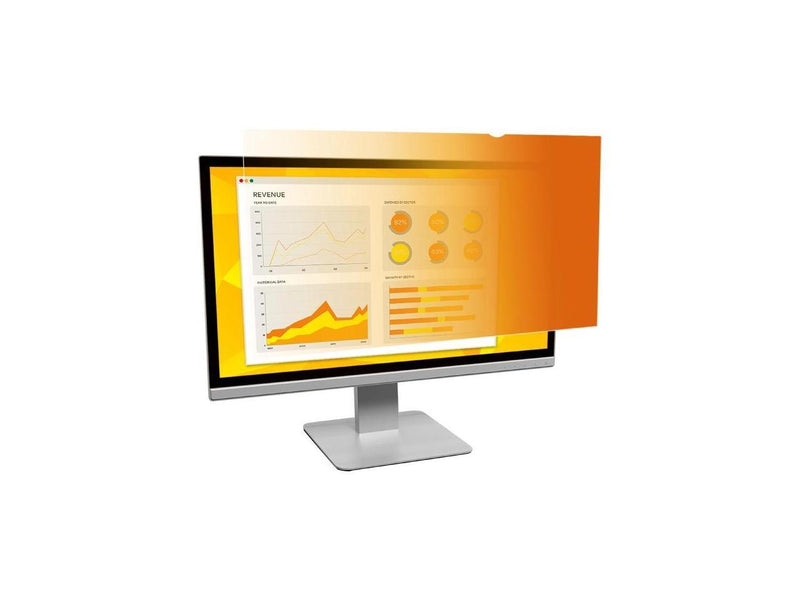 3M GF240W9B Gold Privacy Filter For 24 Inch Widescreen Monitor - Display Privacy Filter - 24 Inch Wide - Gold