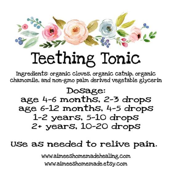 Aimee's Homemade- Teething Tonic