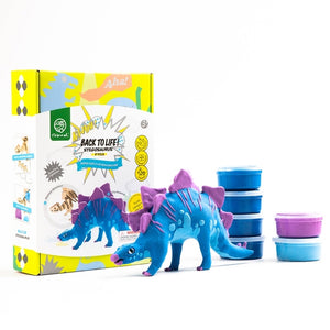 Hands Craft - Stegosaurus DIY Wood and Clay Model