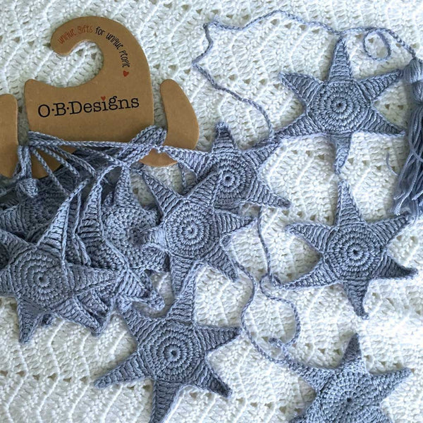O.B. Designs - Star fish Bunting, Blue