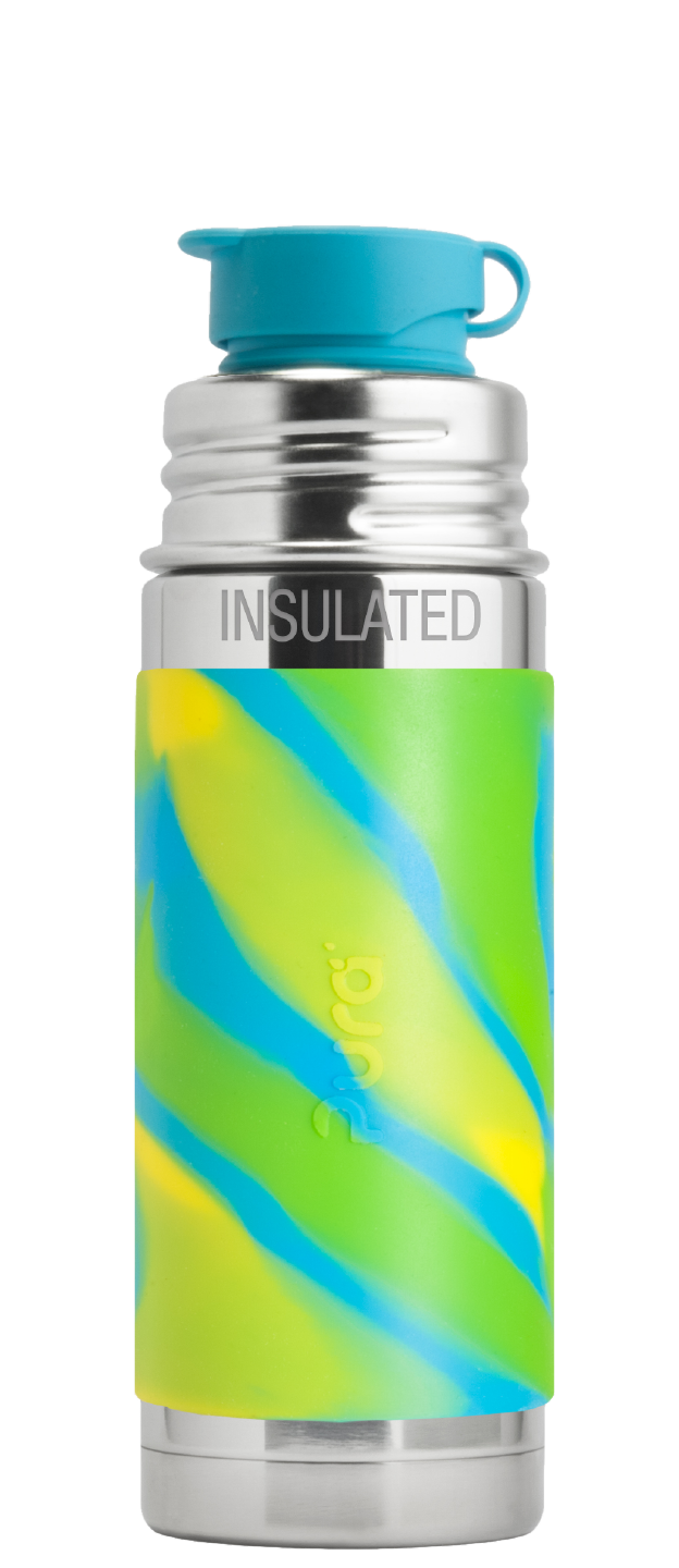 Pura - Aqua Swirl Insulated 9oz Mini Sport Bottle