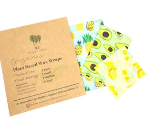 Me Mother Earth - Plant Based Wax Food Wraps 3-Pack
