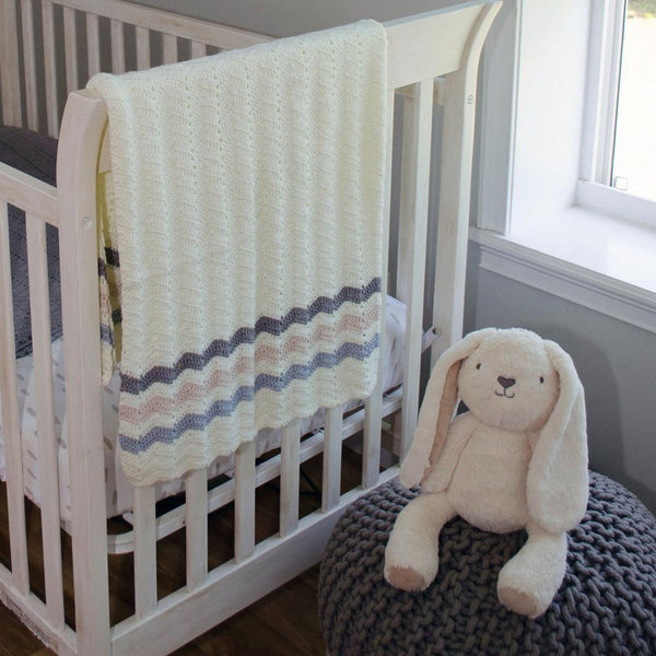 O.B. Designs - Ripple Blanket Blue Stripe