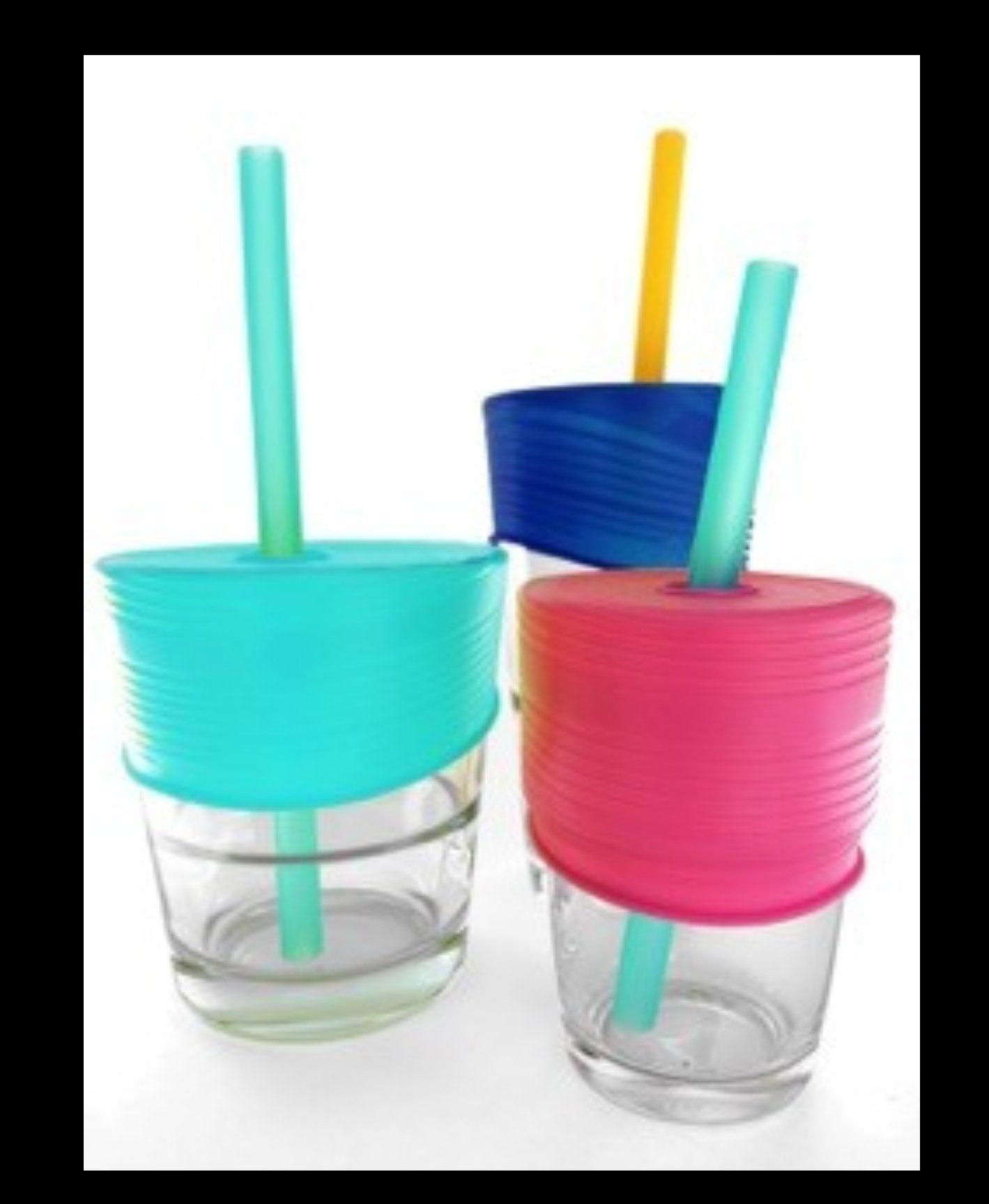 GoSili - Universal Straw Tops, berry/sea/cobalt