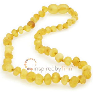 Inspired by Finn Amber Necklace -  Unpolished, Lemonade (10.5 - 11.5 inches)