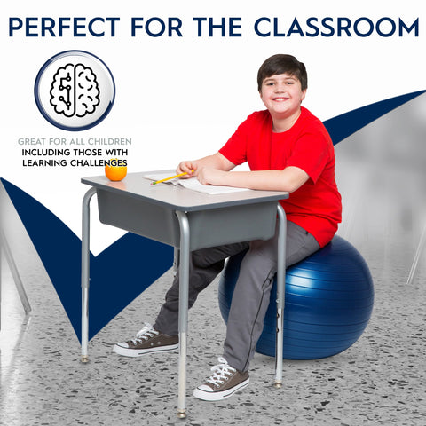 "Bouncyband - Balance Ball Chair For Kids & Adults Up 5' 6"" Tall (Weighted & Non-Rolling)"