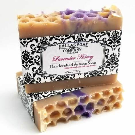 Dallas Soap Company -  Lavender Honey Artisan Soap