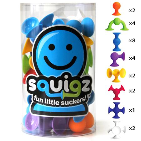 Fat Brain Toys - Squigz, 24 Piece Starter Set
