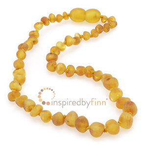 Inspired by Finn Amber Necklace -  Unpolished, Harvest (10.5 - 11.5 inches)