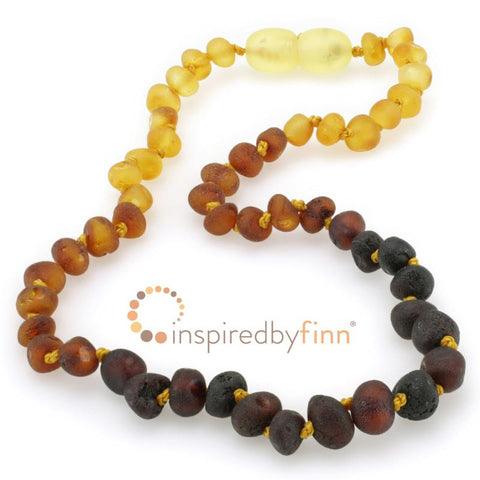 Inspired by Finn Amber Necklace -  Unpolished, Tri-Color (10.5 - 11.5 inches)