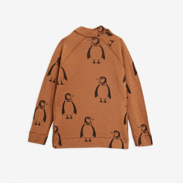 Mini Rodini merino wool blouse Penguin