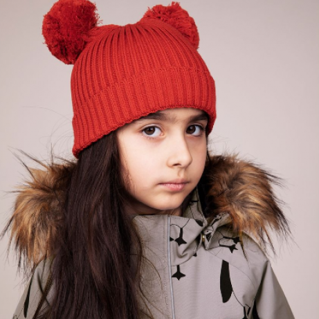 Mini Rodini hat with bumps red