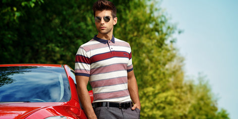 Styling tricks to style a solid polo t-shirt
