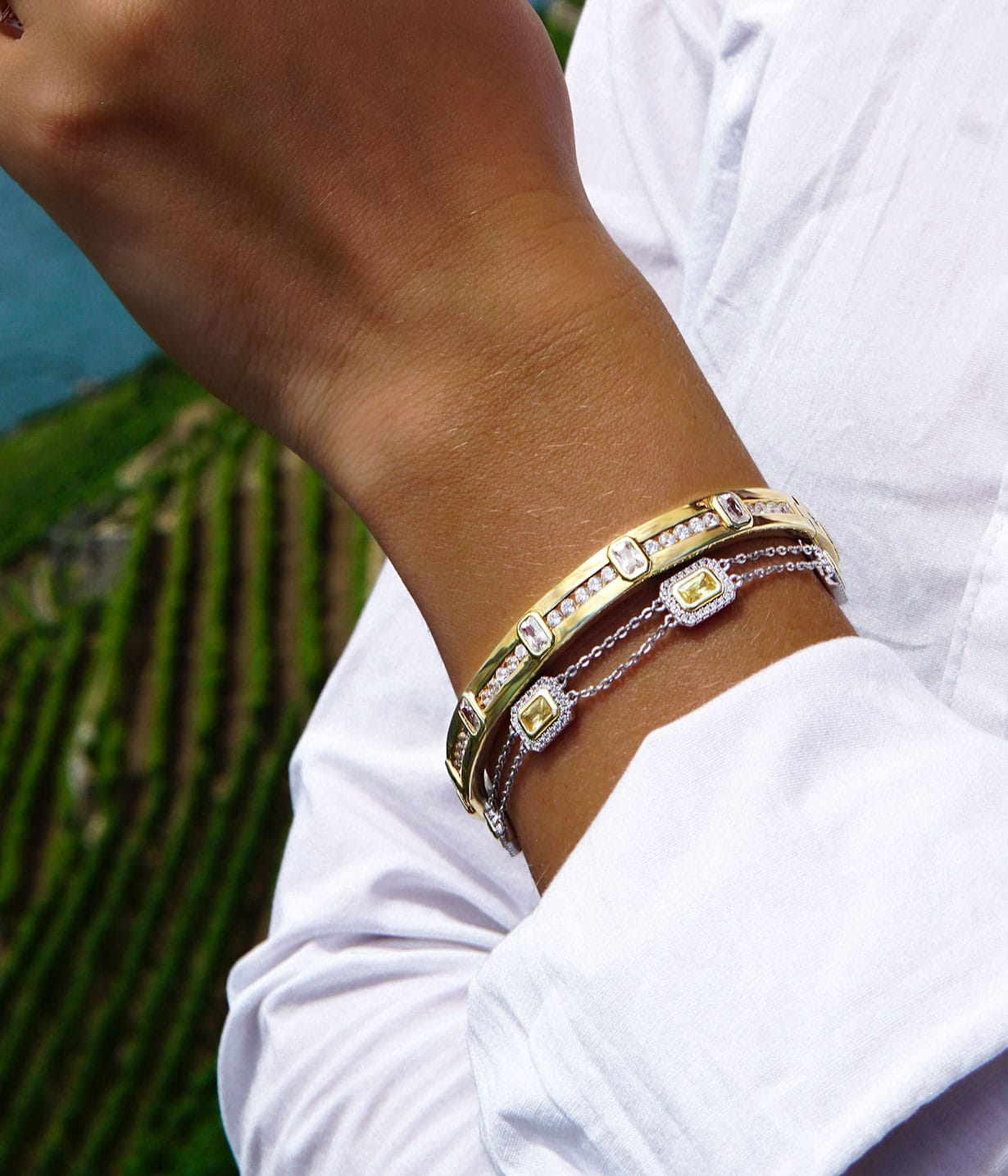 Abelstedt A bracelets in gold plated sterling silver