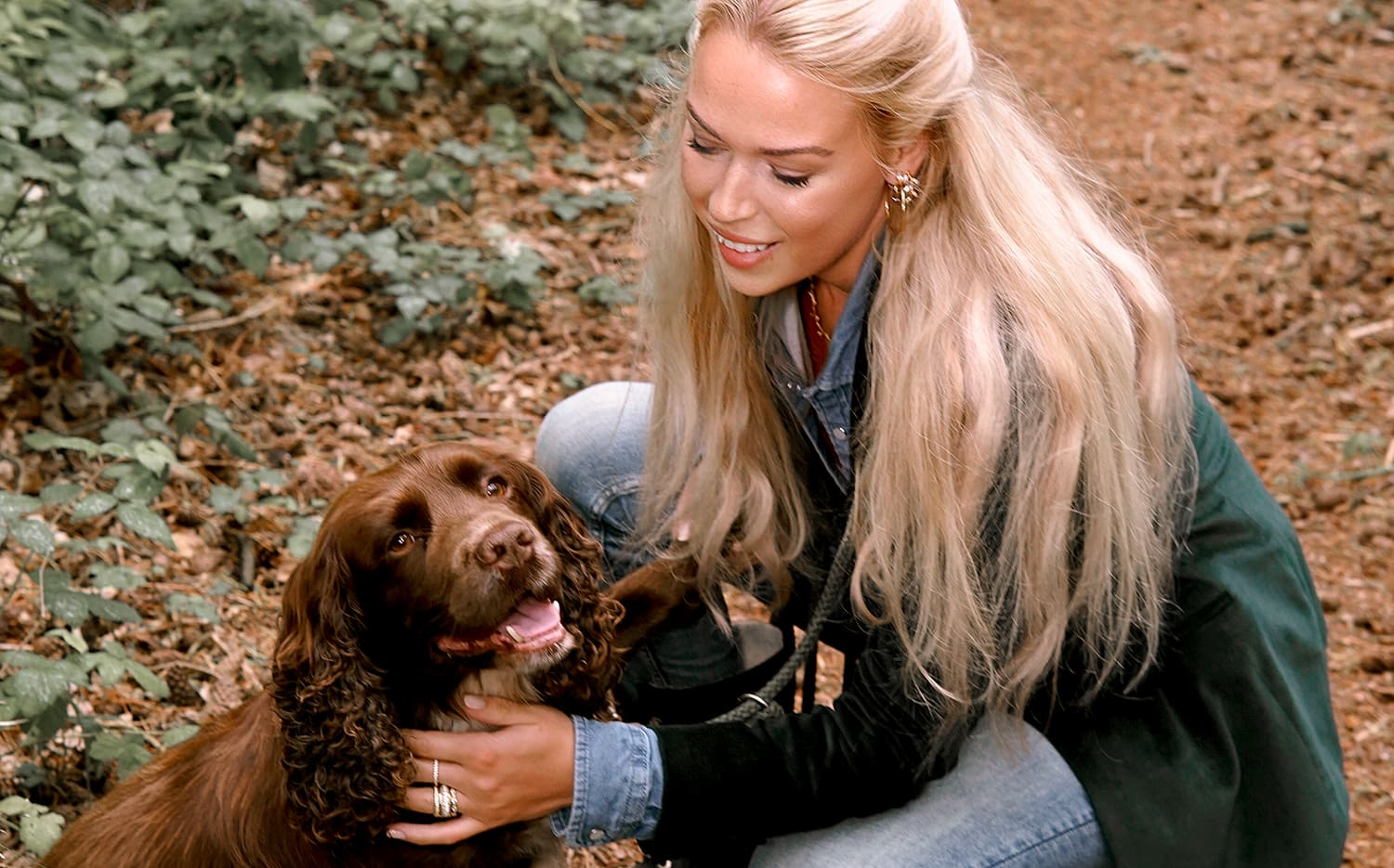 Julie Abelstedt with dog