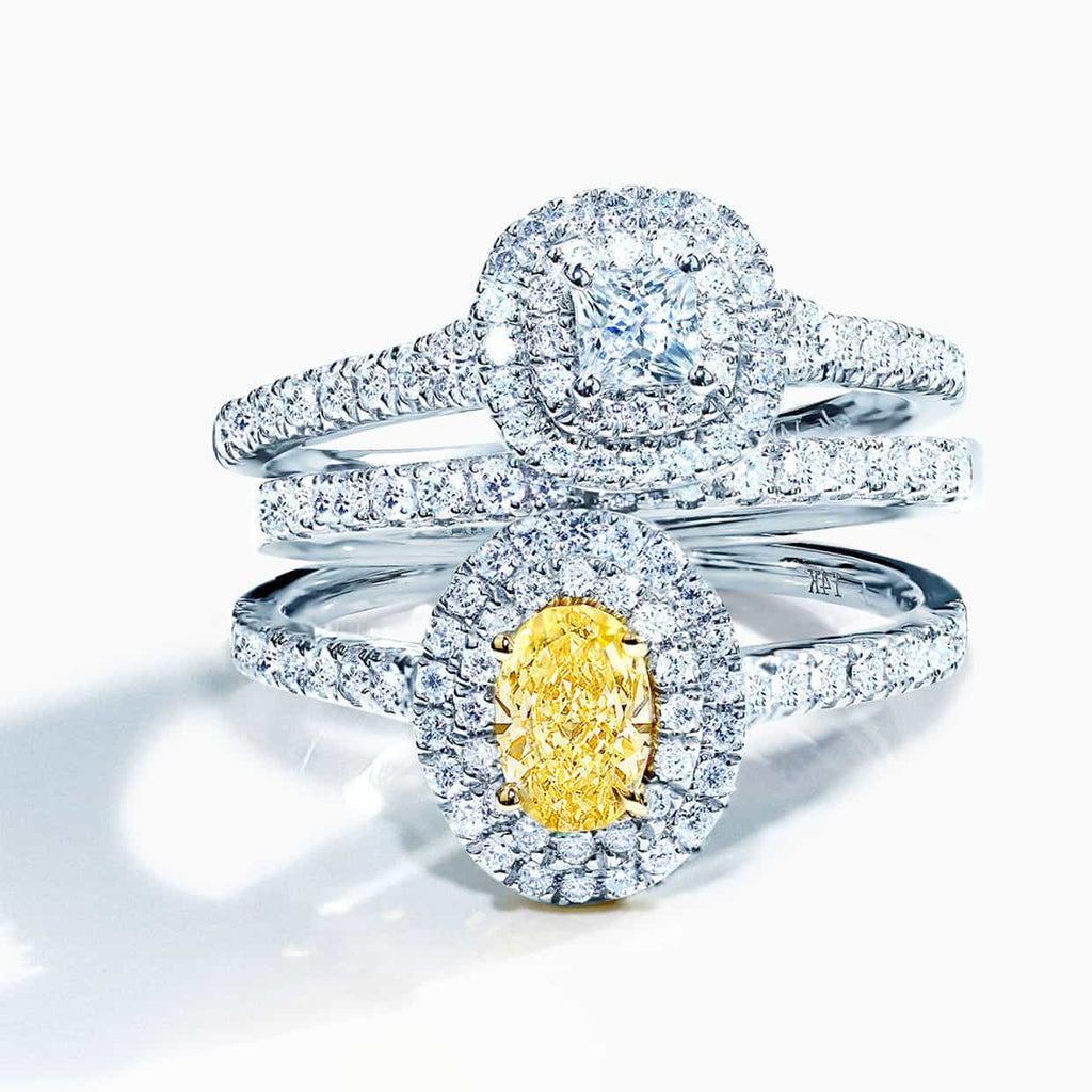 Abelstedt diamond ring stack