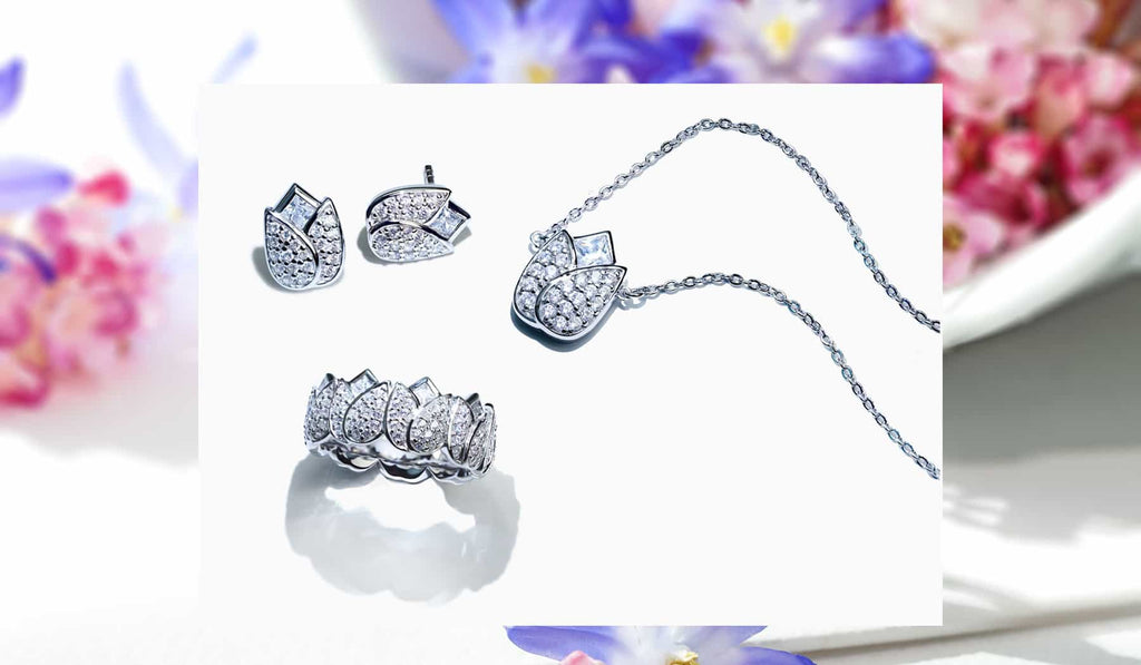 Jewelry set from the Abelstedt Flora collection