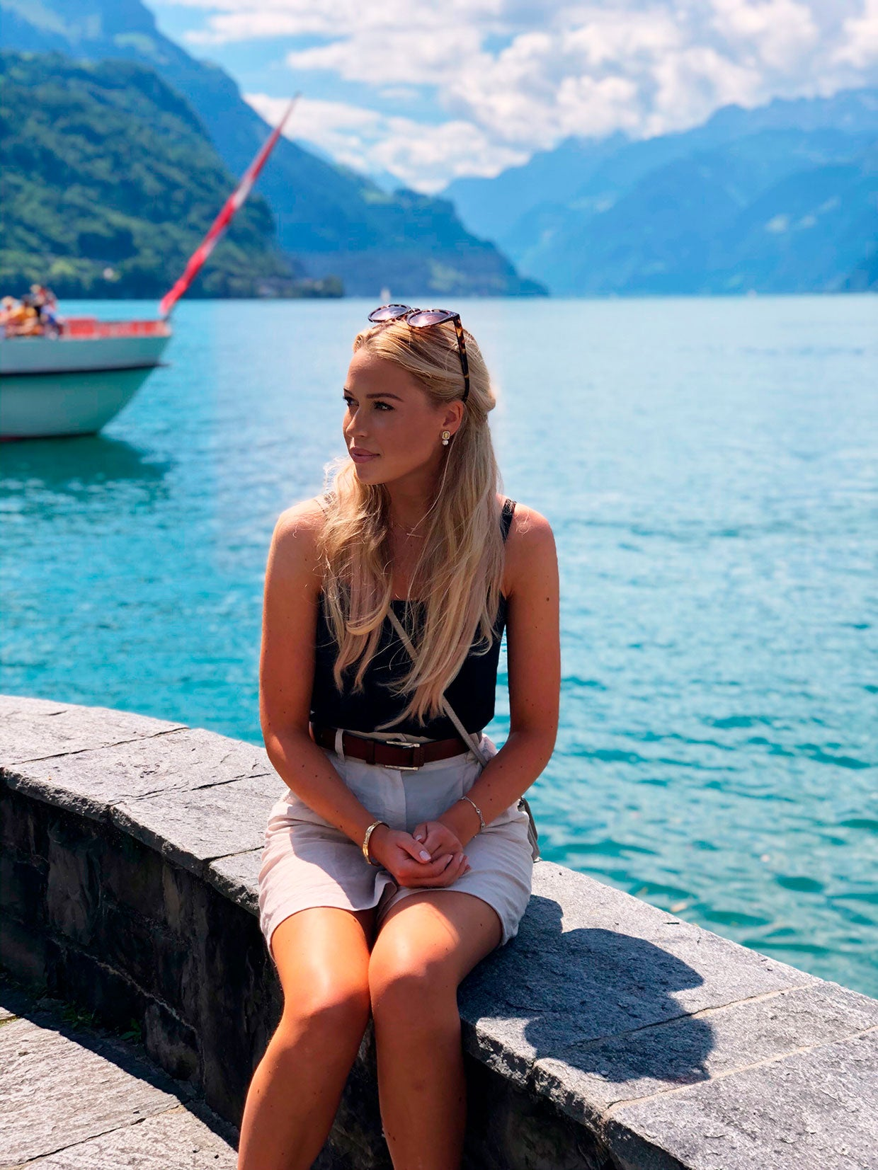 Julie Abelstedt sitting by the water