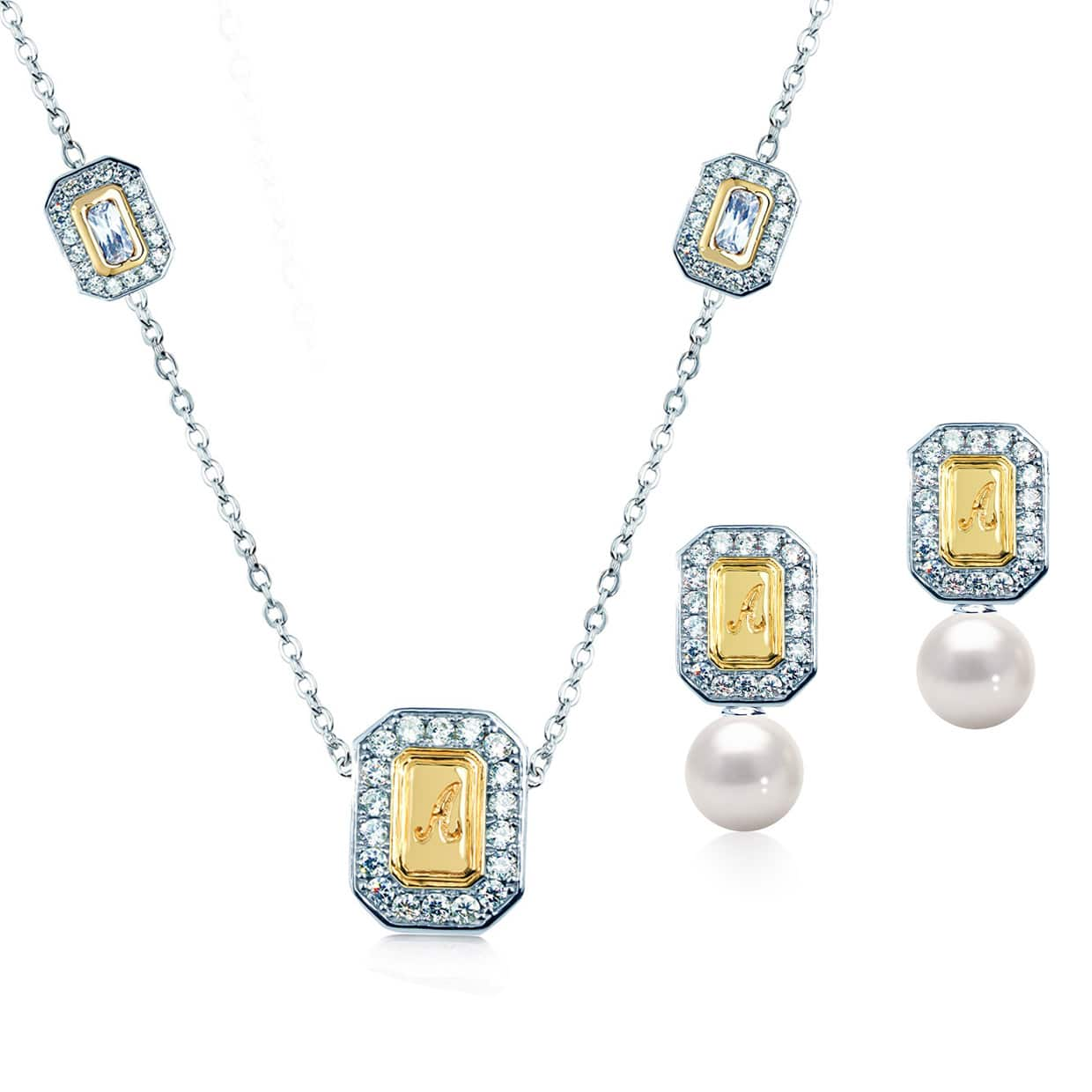 Abelstedt A Gold Gift Set with Freshwater Pearl