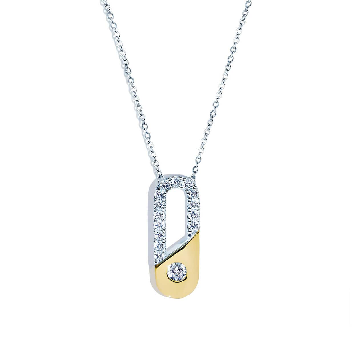Abelstedt A Gold & Silver Clip Necklace - Abelstedt