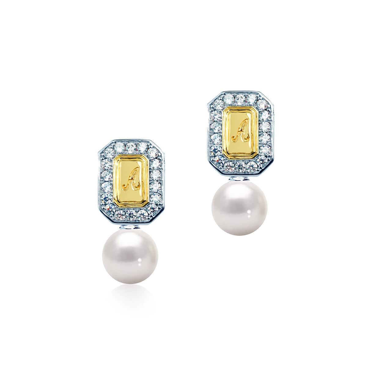 Abelstedt A Gold & Silver Freshwater Pearl Earrings