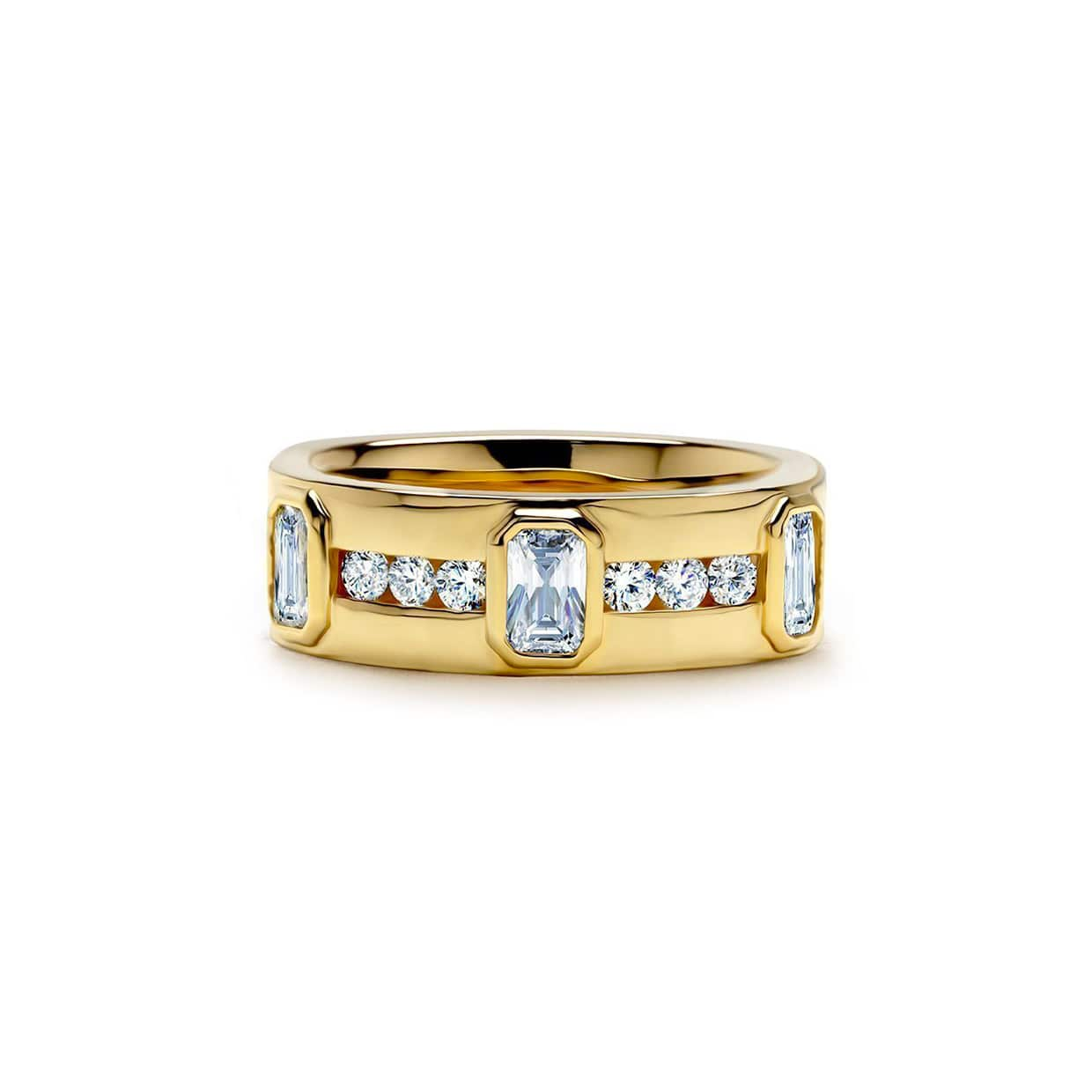 Abelstedt A Gold Wide Ring