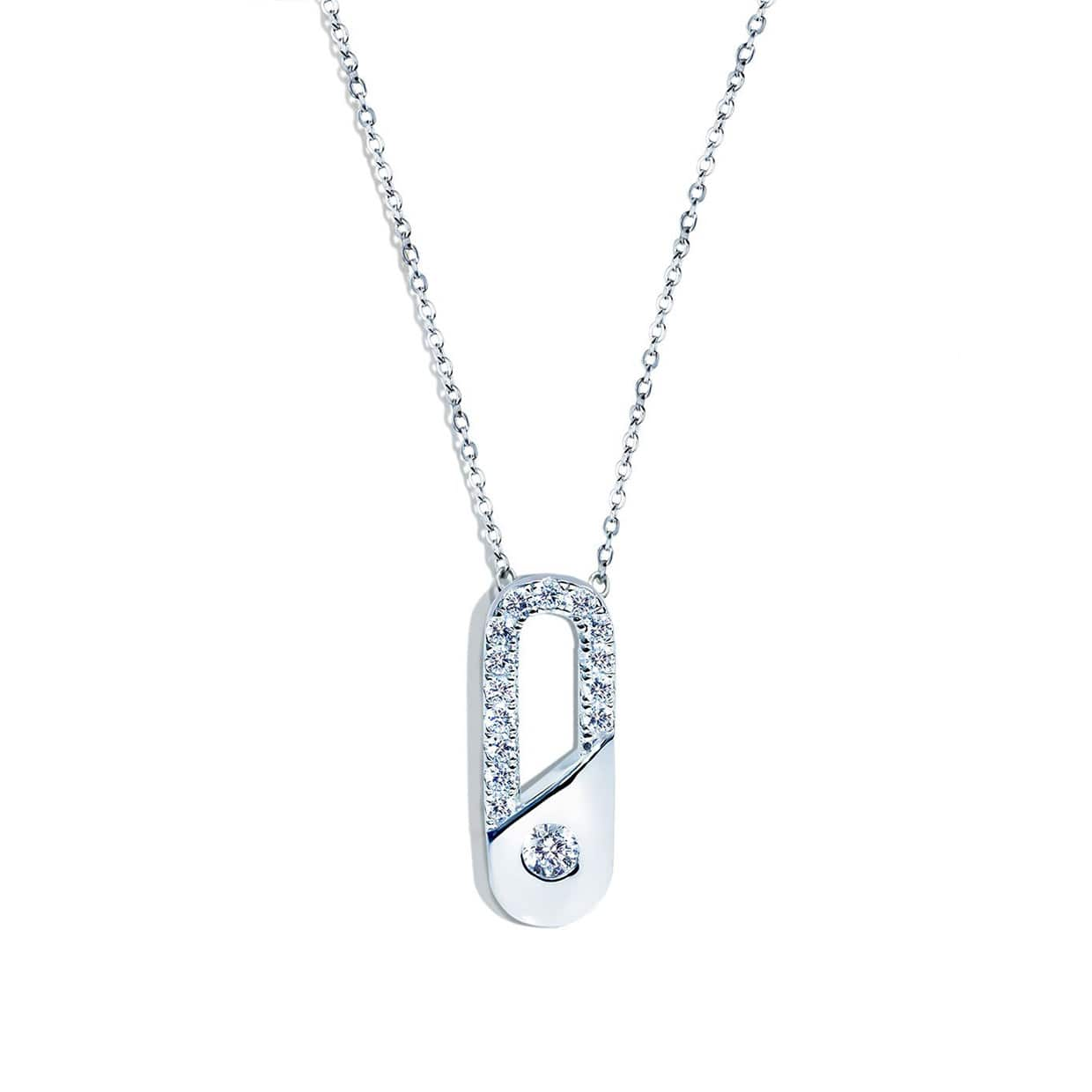 Abelstedt A Silver Clip Necklace