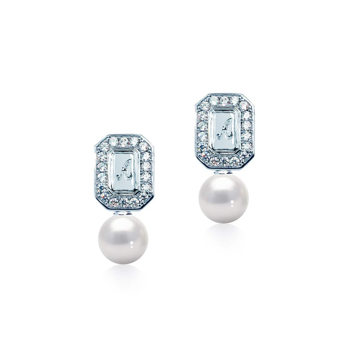Abelstedt A Silver Freshwater Pearl Earrings - Abelstedt