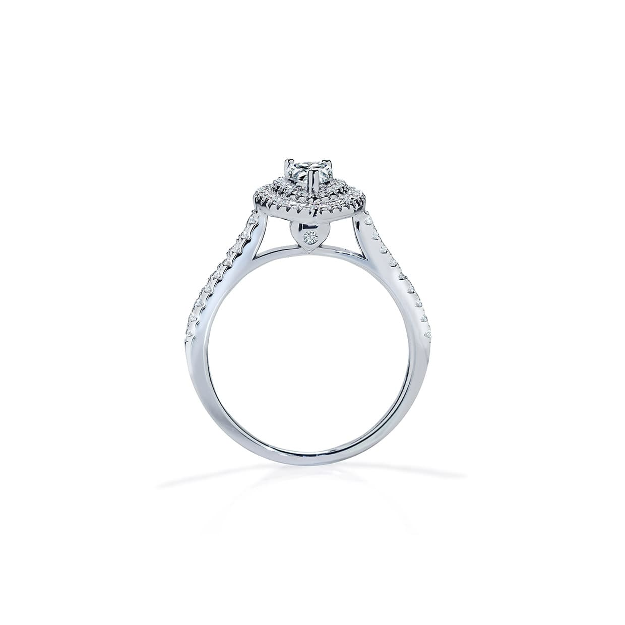 Diamond Double Pear Cut White Sapphire Ring - Abelstedt